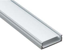 Широкий накладной алюминиевый профиль 2406 ANOD