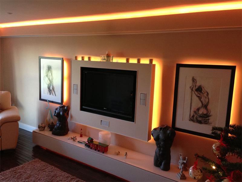 Светодиодная подсветка для стенки своими руками