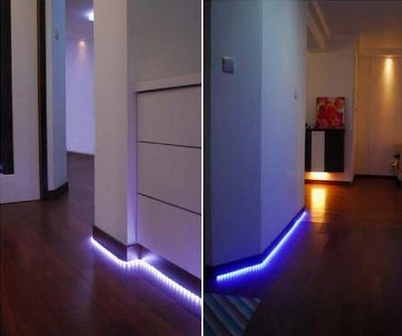 Как сделать пол с подсветкой