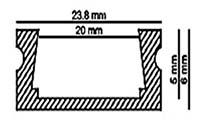 Размеры алюминиевого профиля 2406