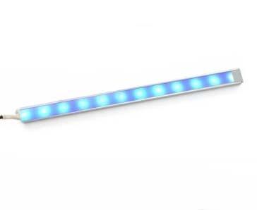 Синий светодиодный светильник на основе светодиодной ленты