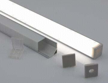 Алюминиевый профиль аналог KANT-H16-2000 с квадратным экраном